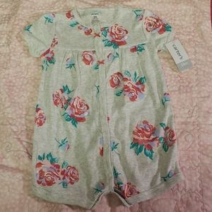 Carters Rose romper- NWT